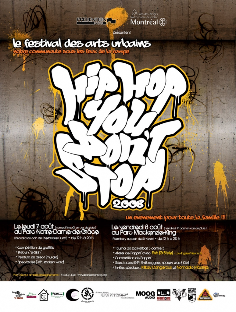 Hip Hop You Don't Stop - Affiche/Poster 2008