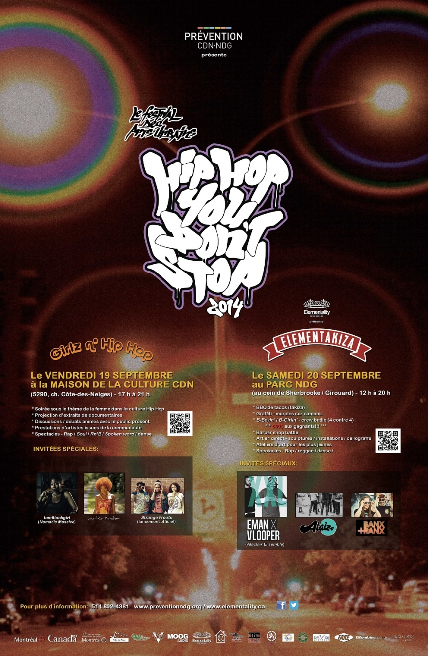 Hip Hop You Don't Stop - Affiche/Poster 2014